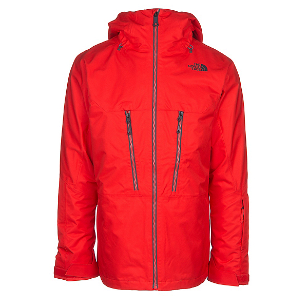 The North Face ThermoBall Snow Triclimate Mens Insulated Ski Jacket, Centennial Red, 600