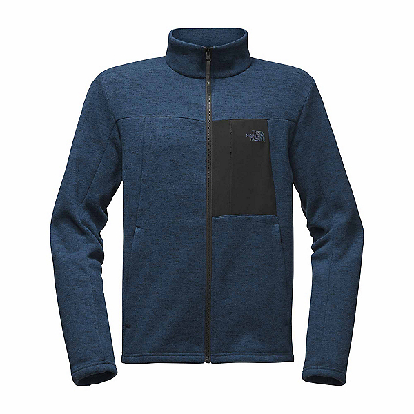 The North Face Solmore Fleece Mens Jacket, Shady Blue Dark Heather, 600
