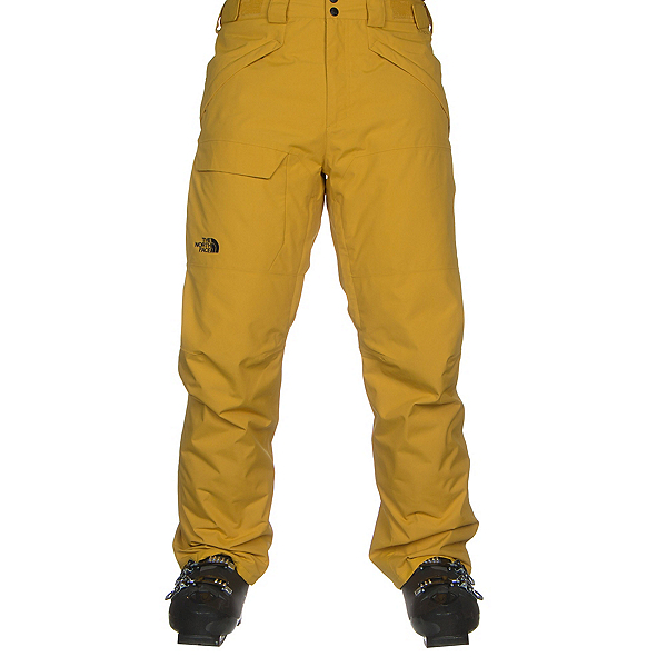 The North Face Freedom Insulated Mens Ski Pants, Leopard Yellow, 600