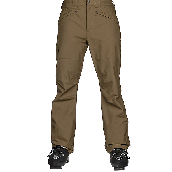 The North Face Straight Six Mens Ski Pants, Military Olive, 600