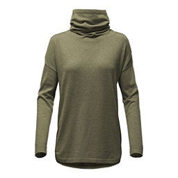 The North Face Woodland Tunic Womens Sweater, Burnt Olive Green Heather, 256