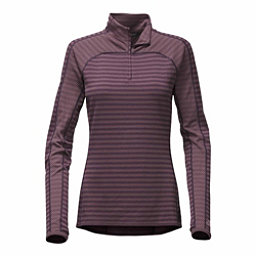 The North Face Duomix 1/4 Zip Womens Mid Layer, Dark Eggplant Purple, 256