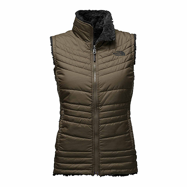 The North Face Mossbud Swirl Womens Vest, New Taupe Green-TNF Black, 600