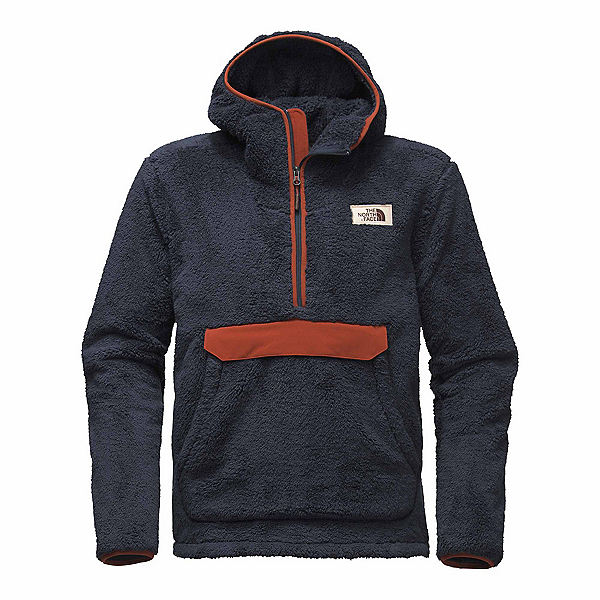 The North Face Campshire Pullover Mens Hoodie, Urban Navy-Brandy Brown, 600