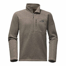 The North Face Gordon Lyons 1/4 Zip Mens Mid Layer, Falcon Brown Heather, 256