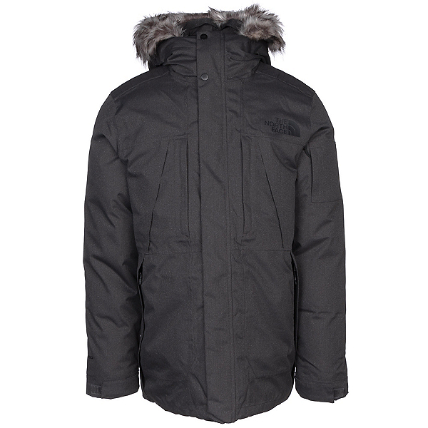 The North Face Outer Boroughs Parka w/Faux Fur Mens Jacket, TNF Dark Grey Heather, 600