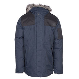 The North Face Outer Boroughs Parka w/Faux Fur Mens Jacket, Urban Navy Heather-TNF Black, 256