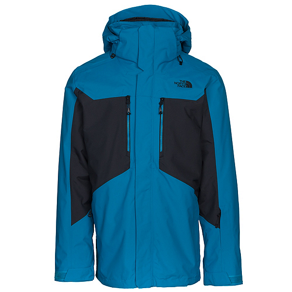 The North Face Clement Triclimate Mens Insulated Ski Jacket, Brilliant Blue-TNF Black, 600