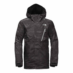 The North Face Descendit Mens Insulated Ski Jacket, Asphalt Grey Woodchip Camo Pri, 256