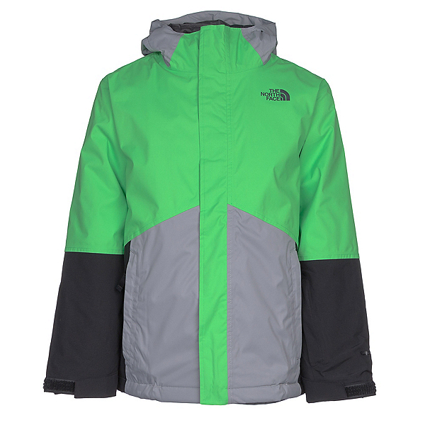 The North Face Boundary Triclimate Boys Ski Jacket, Krypton Green, 600