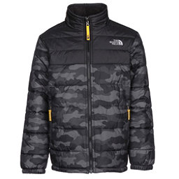 The North Face Reversible Mount Chimborazo Boys Jacket, Graphite Grey Camo Heather Pri, 256