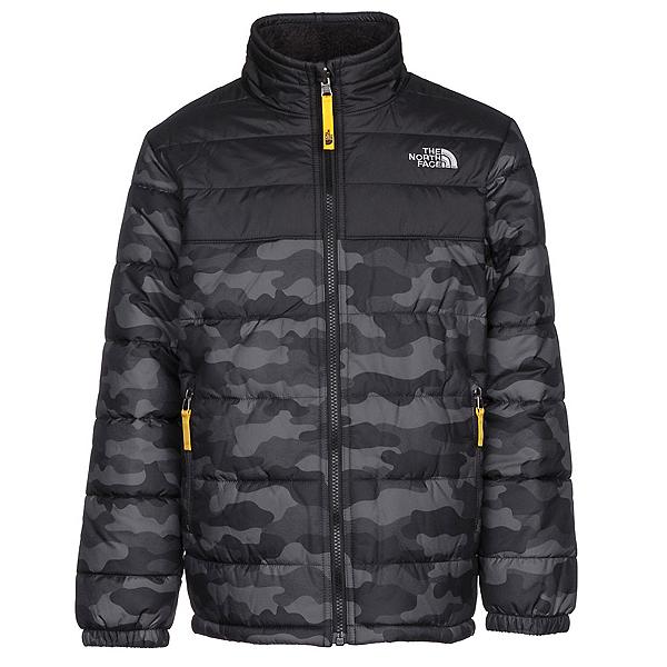 The North Face Reversible Mount Chimborazo Boys Jacket, Graphite Grey Camo Heather Pri, 600