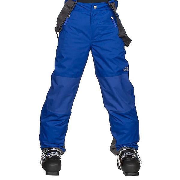 The North Face Snowquest Suspender Kids Ski Pants, Bright Cobalt Blue, 600