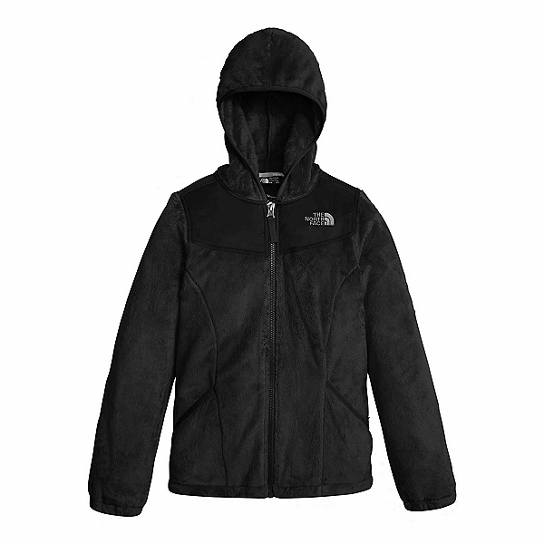 The North Face Oso Hoodie Girls Jacket, TNF Black, 600