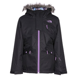 The North Face Caitlyn Insulated Girls Ski Jacket w/Faux Fur, TNF Black, 256
