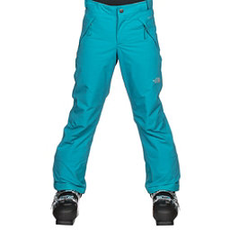 The North Face Freedom Insulated Girls Ski Pants, Algiers Blue, 256