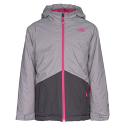 The North Face Brianna Insulated Girls Ski Jacket, Metallic Silver, 256
