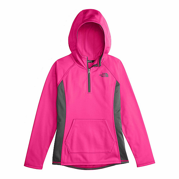 The North Face Girls Tech Glacier 1/4 Zip Kids Midlayer, Petticoat Pink, 600