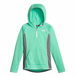 The North Face Girls Tech Glacier 1/4 Zip Kids Midlayer, Bermuda Green, 256