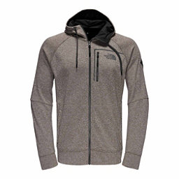 The North Face Mack Eaze Full Zip Mens Hoodie, Falcon Brown Heather-Black Ref, 256