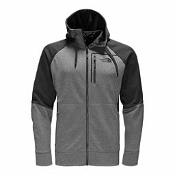 The North Face Mack Eaze Full Zip Mens Hoodie, TNF Medium Grey Heather-Black, 256