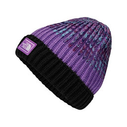 The North Face Basic Beanie Kids Hat, TNF Black-Bellflower Purple Sp, 256
