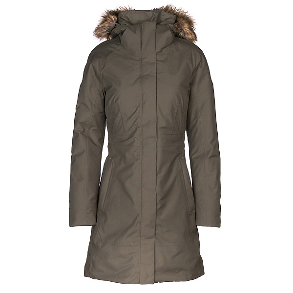 The North Face Arctic Parka II w/Faux Fur Womens Jacket, New Taupe Green, 600
