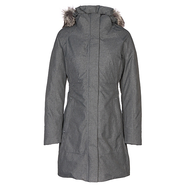 The North Face Arctic Parka II w/ Faux Fur Womens Jacket, TNF Medium Grey Heather, 600
