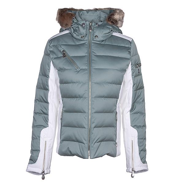 NILS Ula w/Faux Fur Womens Insulated Ski Jacket, Celadon-Winter White, 600