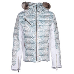 NILS Ula w/Faux Fur Womens Insulated Ski Jacket, Fjord Print-Winter White, 256