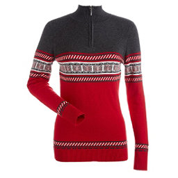 NILS Terri Womens Sweater, Red-Charcoal-Winter White, 256