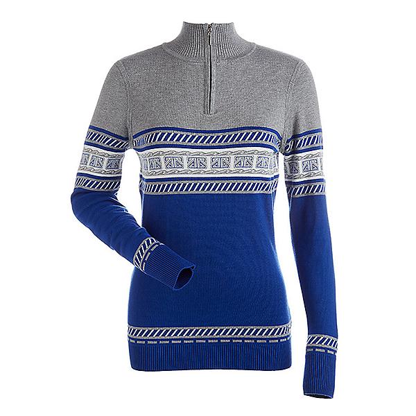 NILS Terri Womens Sweater, Blue Blaze-Steel Grey-Winter W, 600
