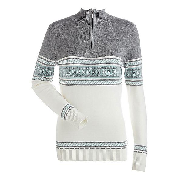 NILS Terri Womens Sweater, Winter White-Steel Grey-Caledo, 600
