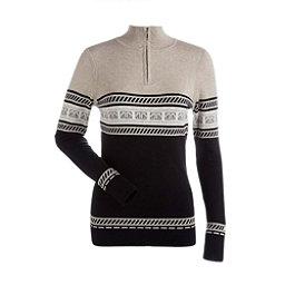 NILS Terri Womens Sweater, Black-Champagne-Winter White, 256