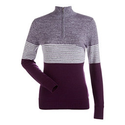 NILS Riley Womens Sweater, Merlot-Nightshade-White, 256