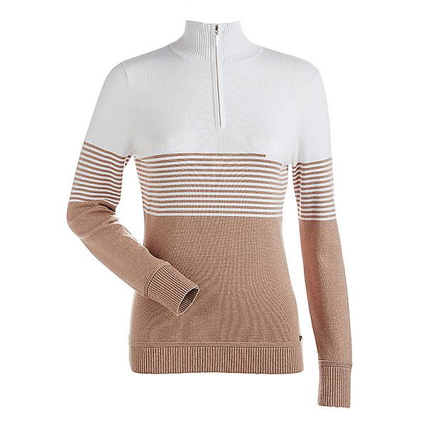 NILS Riley Womens Sweater, Copper-White-Copper, 600