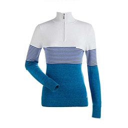 NILS Riley Womens Sweater, Turquoise-White-Blue Blaze, 256