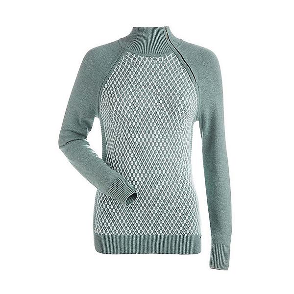 NILS Sigrid Womens Sweater, Celadon-Winter White, 600