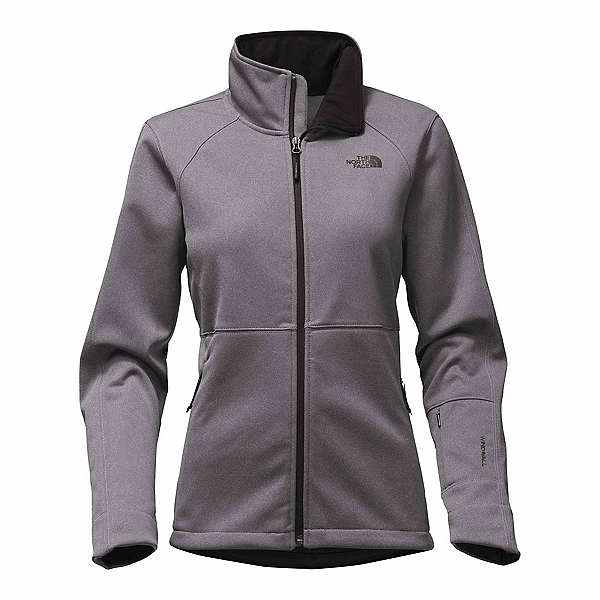 The North Face Apex Risor Womens Soft Shell Jacket, TNF Medium Grey Heather, 600