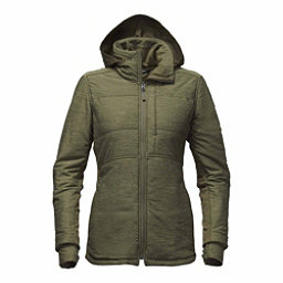 The North Face Pseudio Long Womens Jacket, Burnt Olive Green Heather, 256