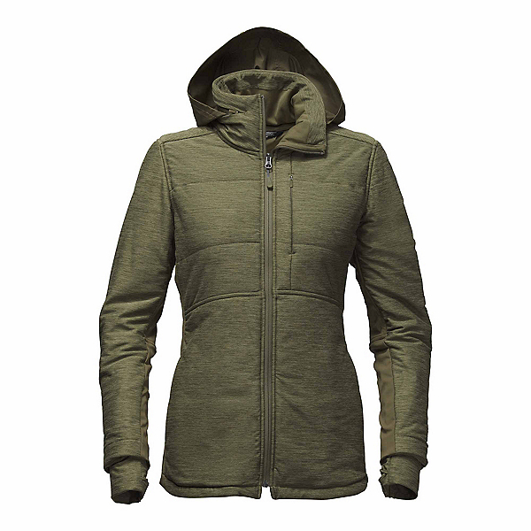 The North Face Pseudio Long Womens Jacket, Burnt Olive Green Heather, 600