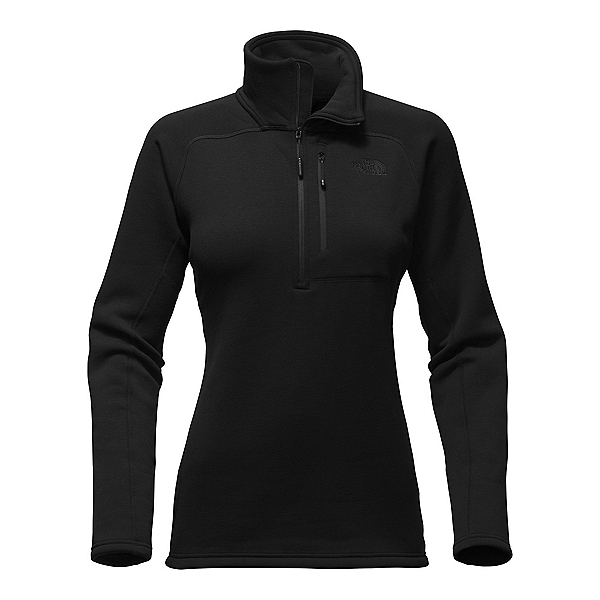 The North Face Flux 2 Power Stretch 1/4 Zip Womens Mid Layer, TNF Black, 600
