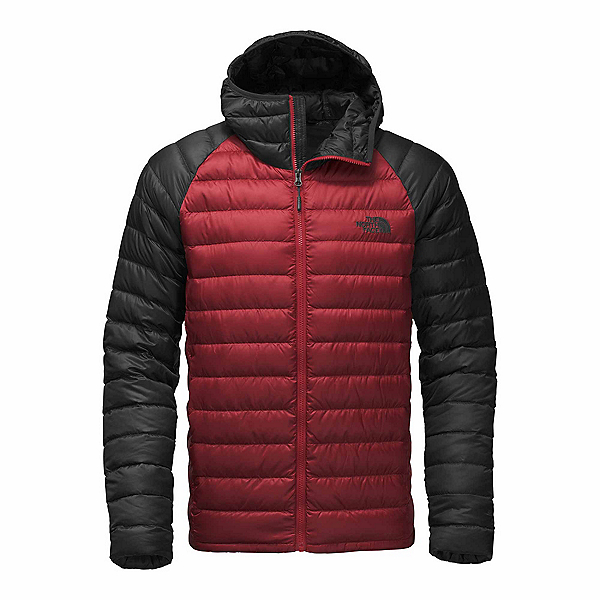 The North Face Trevail Hoodie Mens Jacket, Cardinal Red-Asphalt Grey, 600