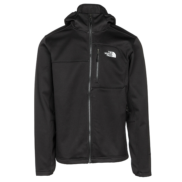 The North Face Apex Risor Hoodie Mens Soft Shell Jacket, TNF Black-TNF Black, 600