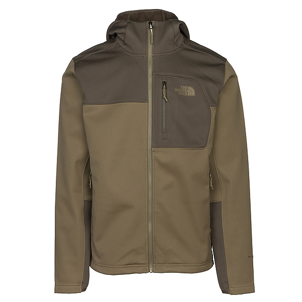 The North Face Apex Risor Hoodie Mens Soft Shell Jacket, Burnt Olive Green-New Taupe Gr, 600
