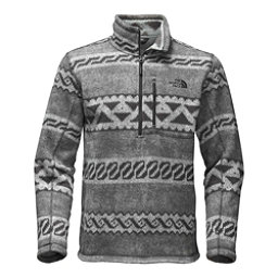The North Face Novelty Gordon Lyons 1/4 Zip Mens Sweater, Monument Grey Woolen Print, 256