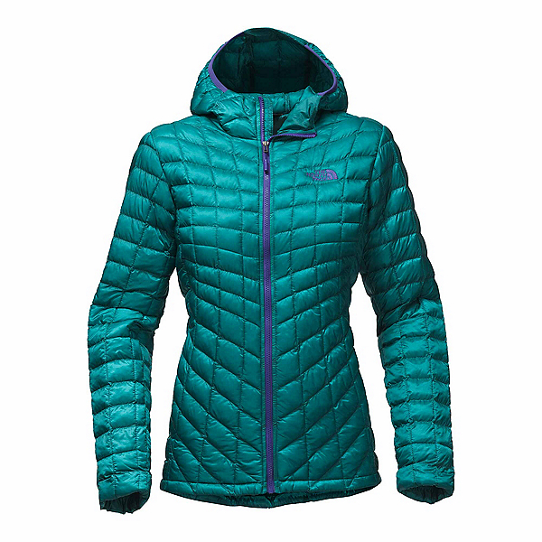 The North Face ThermoBall Hoodie Womens Jacket, Harbor Blue, 600