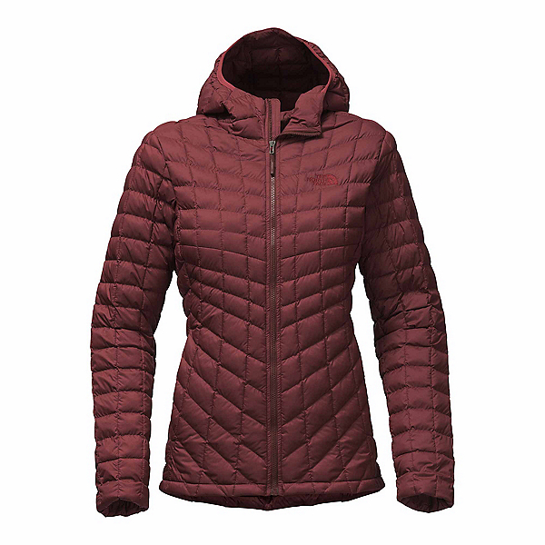 The North Face ThermoBall Hoodie Womens Jacket, Sequoia Red Matte, 600