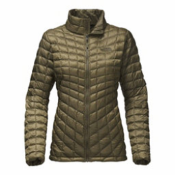 The North Face ThermoBall Full Zip Womens Jacket, Burnt Olive Green, 256