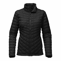 The North Face ThermoBall Full Zip Womens Jacket, TNF Black Matte, 256